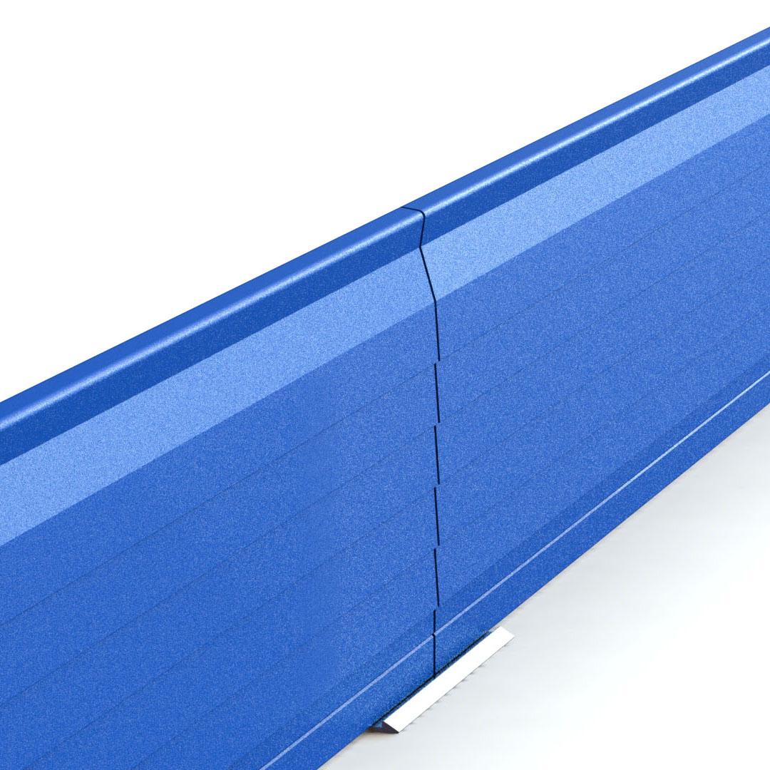 bordure de jardin face bleue en aluminium