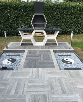 Bordures de jardin en pvc et acier galvanis souples et for Jardin yin yang
