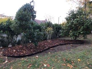 bordure volige jardin courbe aluminium noir séparation délimitation robot tondeuse jardin zen