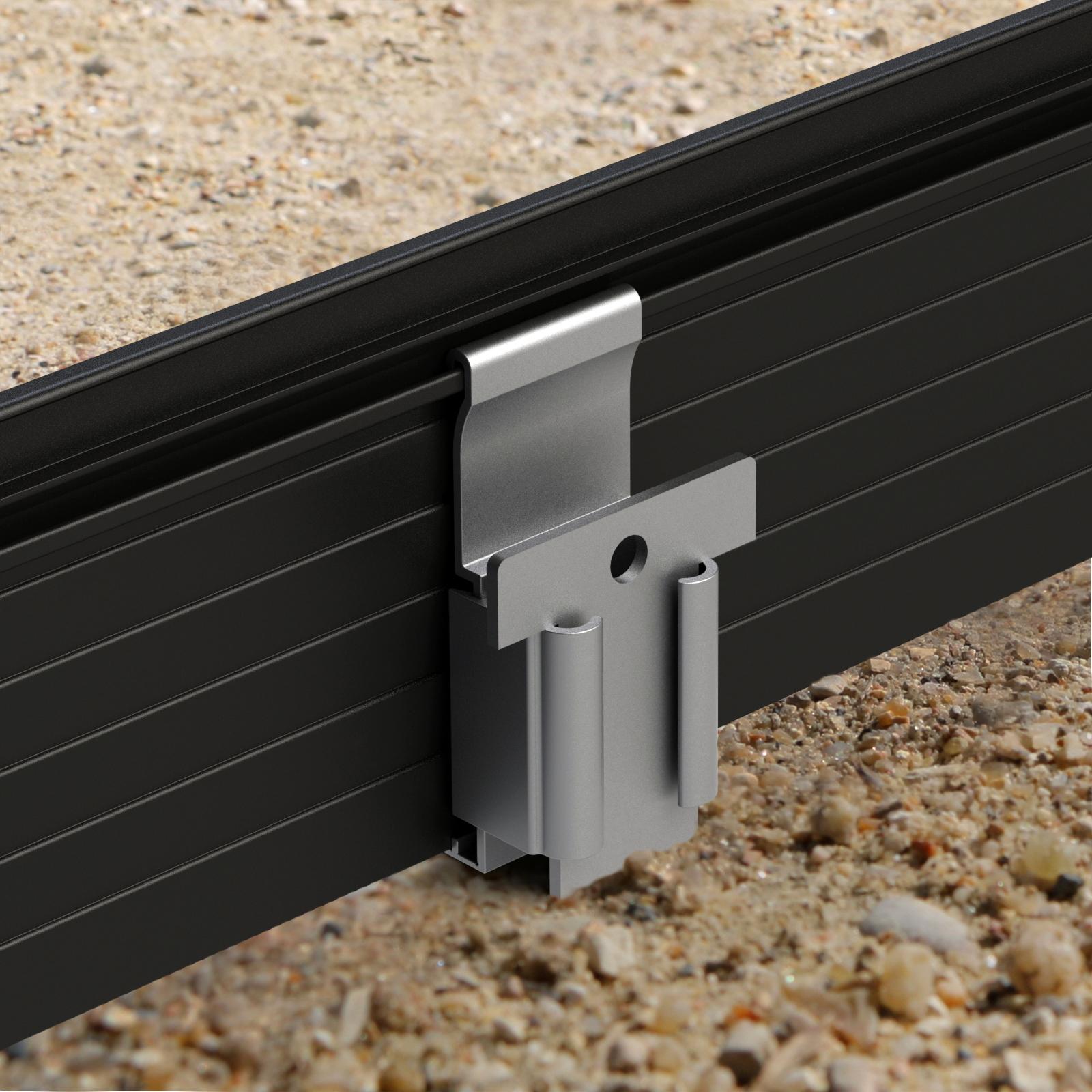fixation montage bordure de jardin séparation délimitation alu aluminium volige alu aluminium