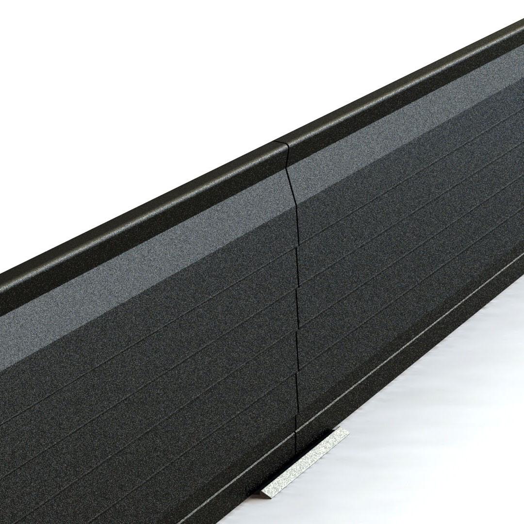 Bord à bord raccordement bordures de jardin délimitation séparation volige aluminium corten