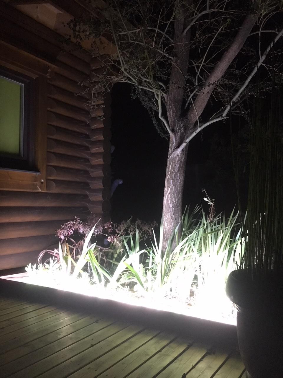bordure de jardin alu éclairage LED luminaire extérieur massif
