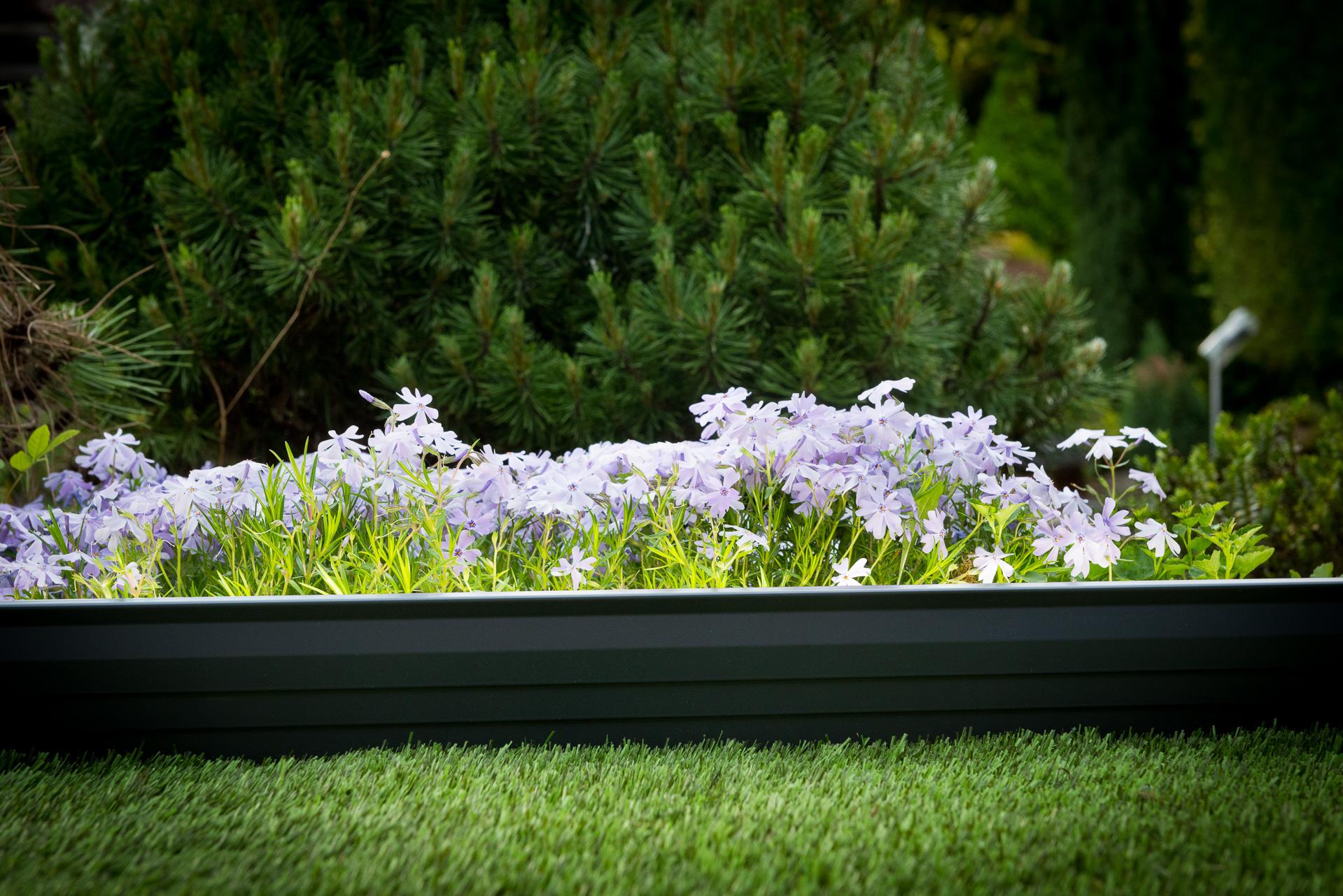 Bordure jardin gris anthracite volige alu aluminium délimitation séparation