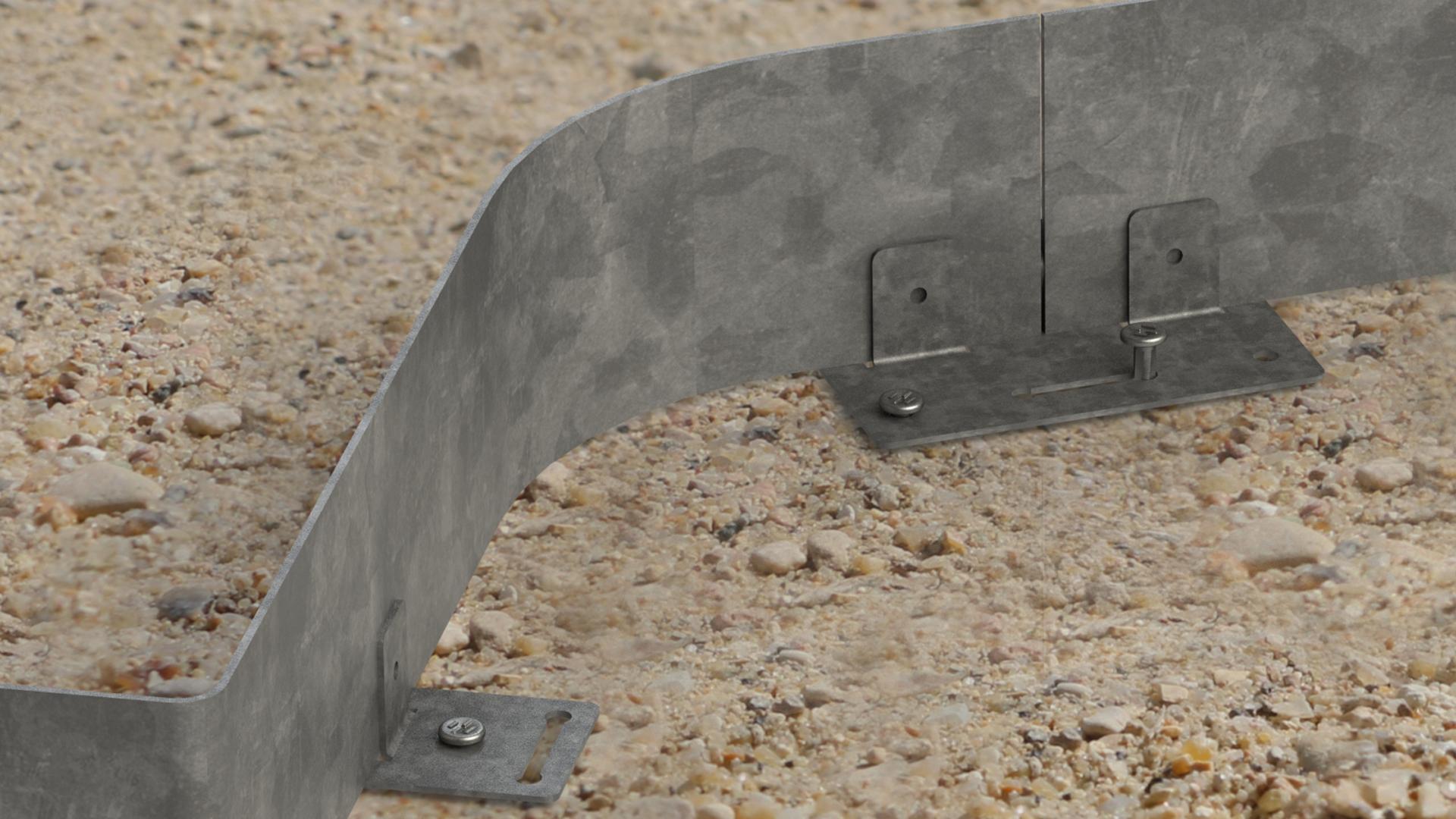 bordure dalle stabilisatrice nidagravel eccogravel acier métal galvanisé