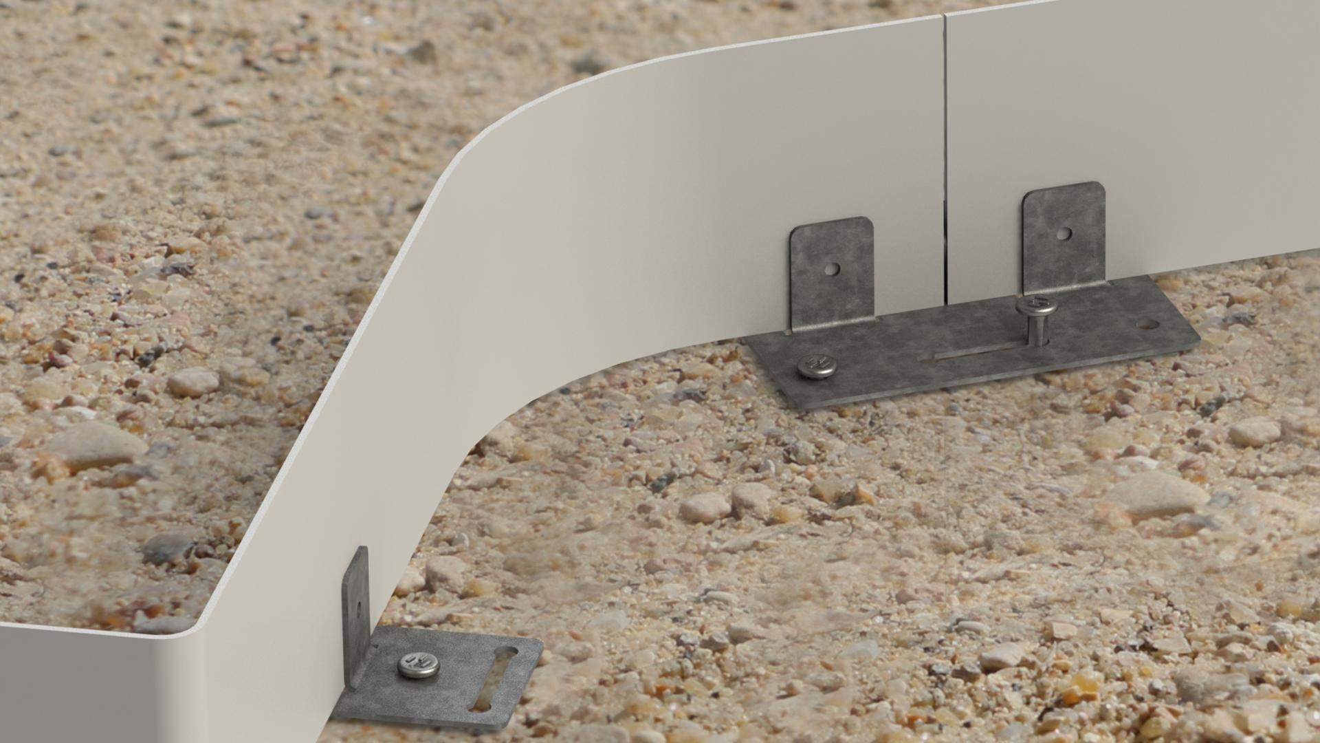 bordure allée piétonne stabilisateur de sol