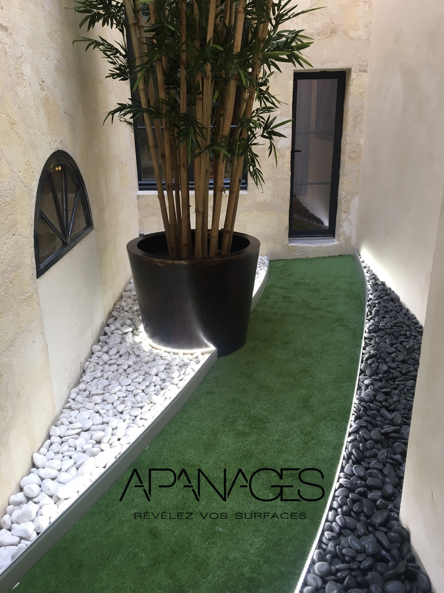 bordure volige aménagement patio cour terrasse jardin