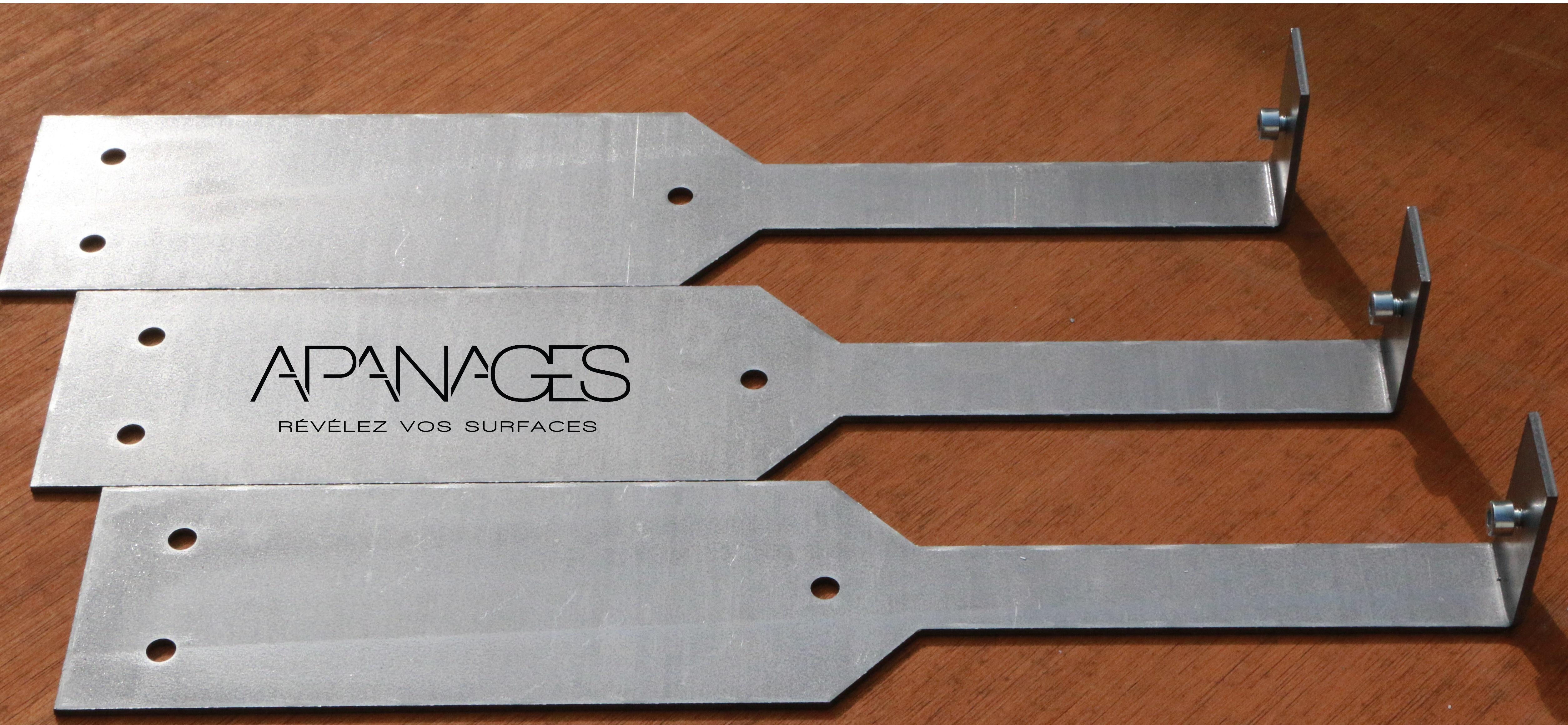 Platine autoportante bordure volige jardin métal aluminium