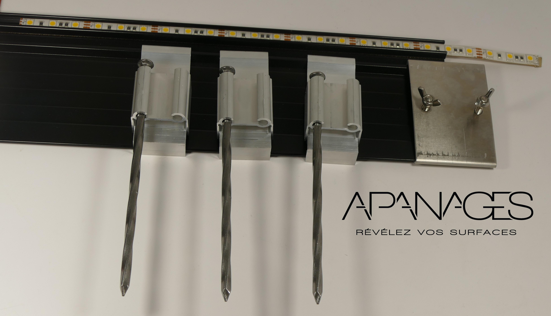 pointes torsadées acier pour volige et bordure métallique aluminium jardin