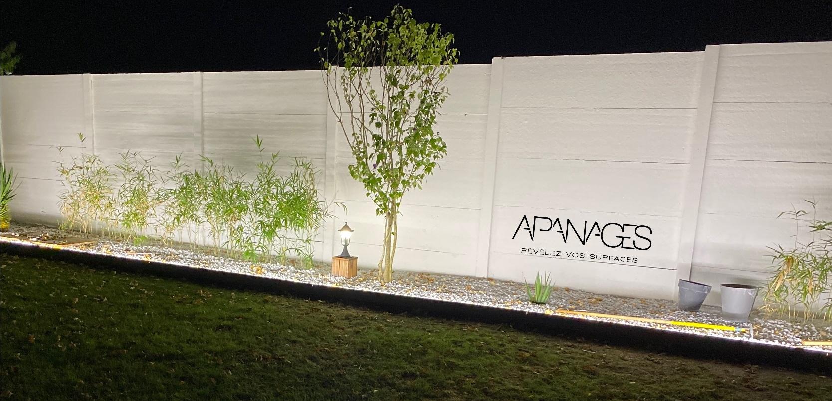 Bordure-volige-délimitation-massif-jardin-eclairage-LED-extérieur-étanche-plaque-béton