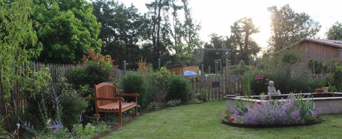 parterre jardin volige acier rouille