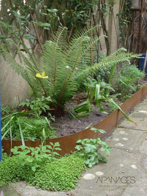 bordure acier corten parterre jardin