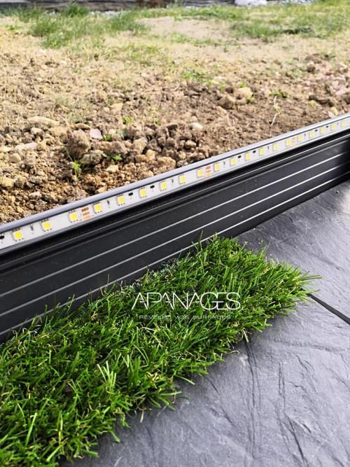 bordure aluminium anthracite ruban led intégré